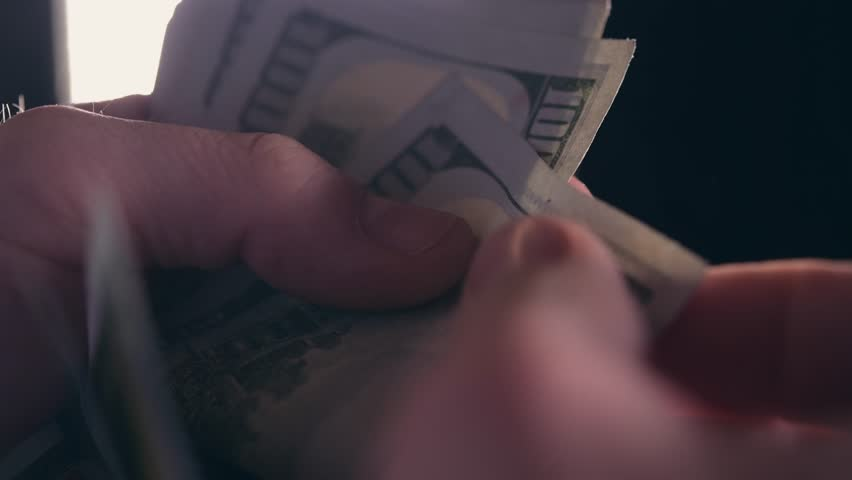 Closeup Video of Caucasian Hands and Money Counting. American Dollars Cash Count. | Shutterstock HD Video #35018719