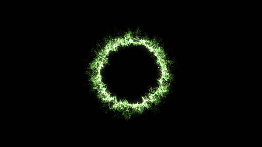 Colorful Rotating Particle Ring - Loop Green | Shutterstock HD Video #35026879