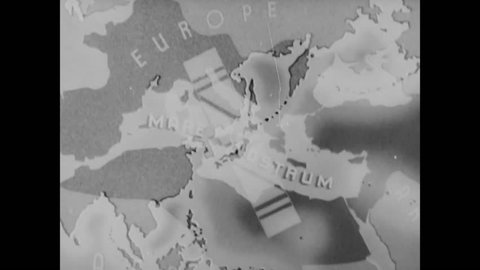 CIRCA - 1942 - Japan and Germany's plans for world conquest prior to WWII.