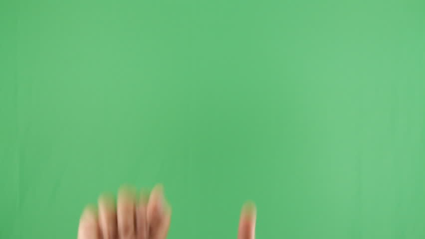 Count to ten on green screened.