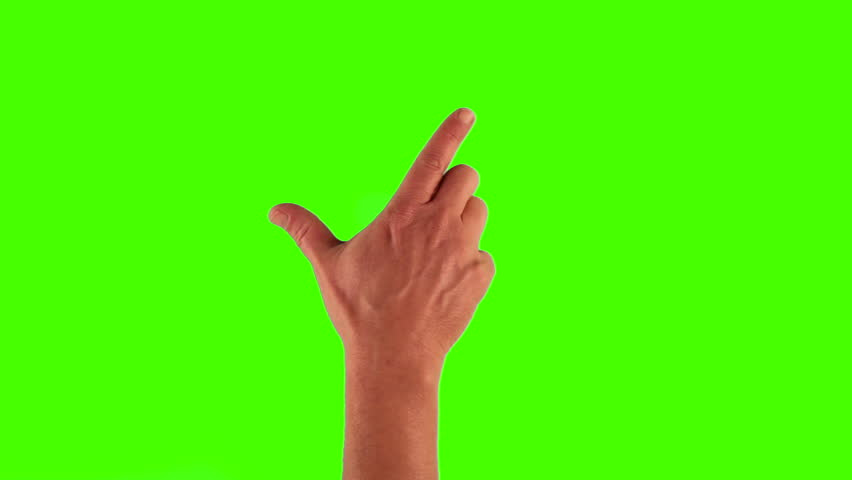 Modern touch screen gestures in 1080p, 1920x1080 showing the uses of a tablet pc or ipad on a green screen. different gestures included. | Shutterstock HD Video #3570500