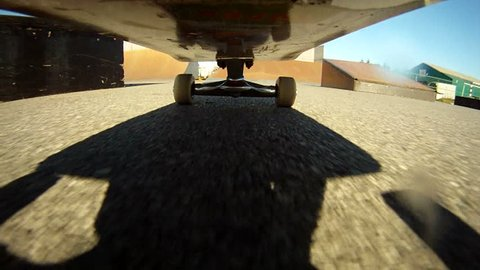 Flip trick with camera under the skateboard