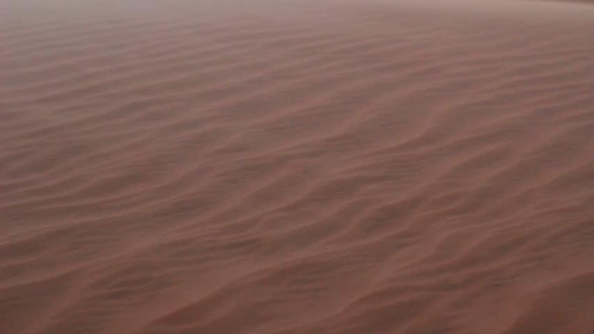 Sandstorm in desert  #3608648