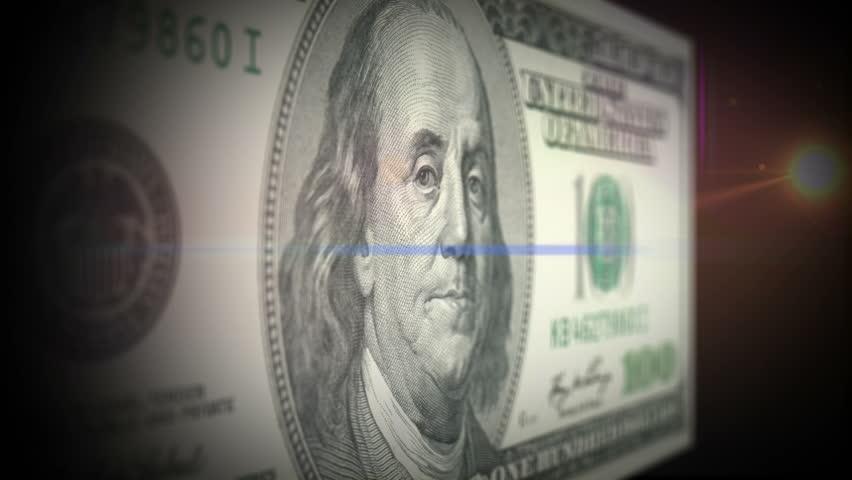 American Currency - Benjamin Franklin on the $100 bill   Shutterstock HD Video #3620429