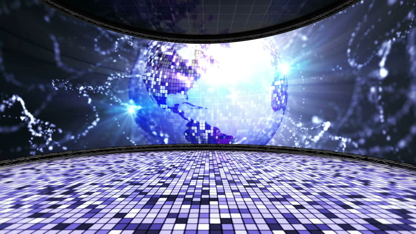 Earth Disco Ball Room Background