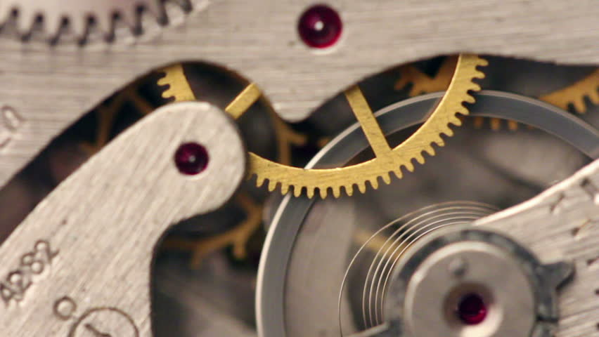 Old Stopwatch mechanism with tick-tick sound