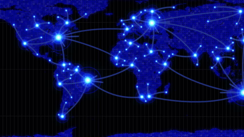 Lines showing countries connecting on world map in black and blue lines showing countries connecting on world map in black and blue stock footage video 3659279 shutterstock gumiabroncs Image collections