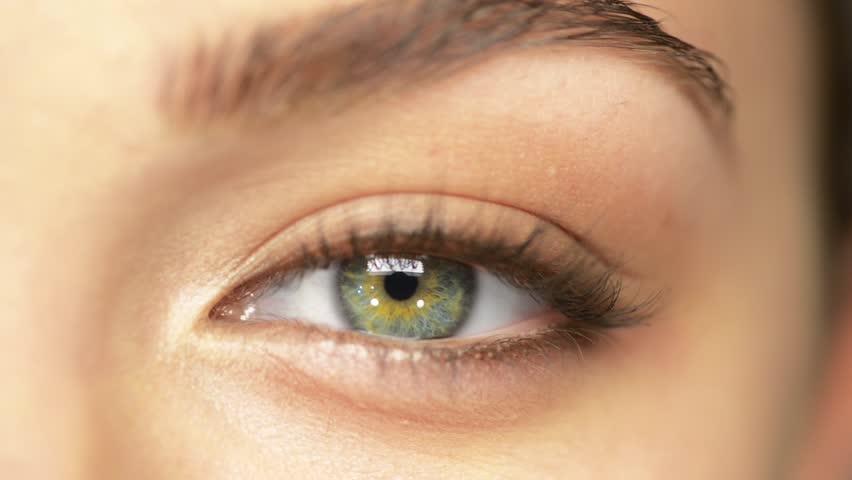 7b90c89e734 Beauty Macro Close-up Eye Blinking Stock Footage Video (100 ...
