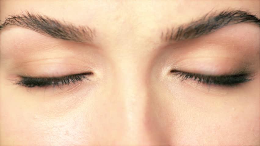 Beauty Macro Close-up eye blinking | Shutterstock HD Video #3662471