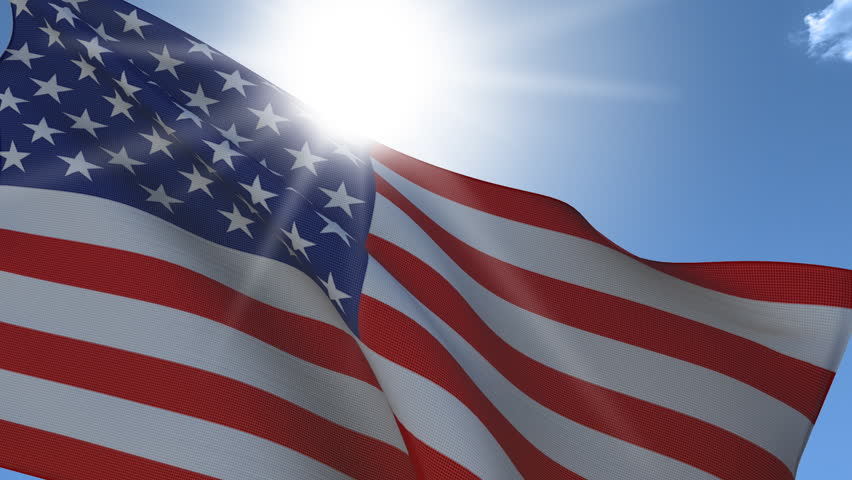 Stock Video Of United States Flag Waving Closeup Seamless