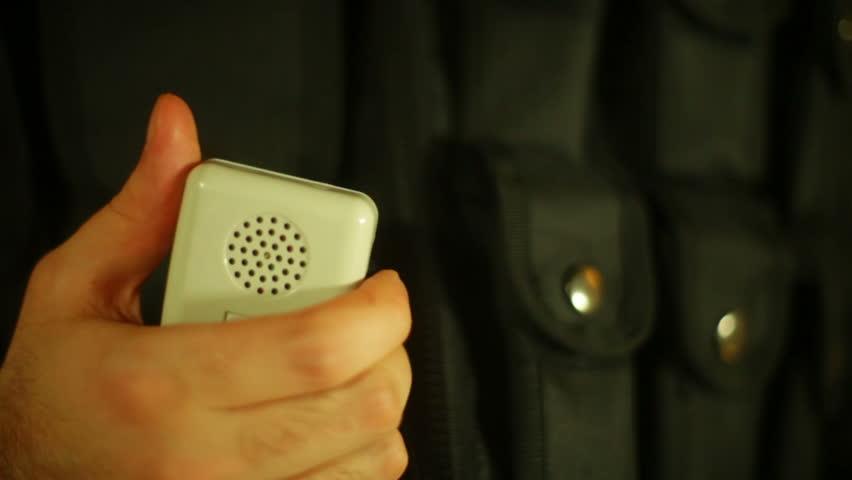 Police or emergency radio.