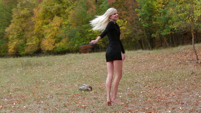 Beautiful Girl Dancing On A Village Road Stock Footage Video 2837653  Shutterstock-7503