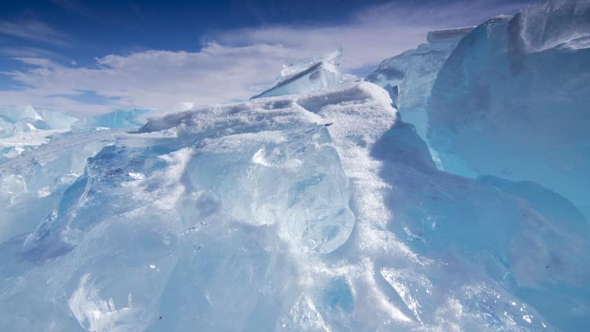 Time lapse of Ice hummocks. Lake Baikal. Siberia. | Shutterstock HD Video #3691247