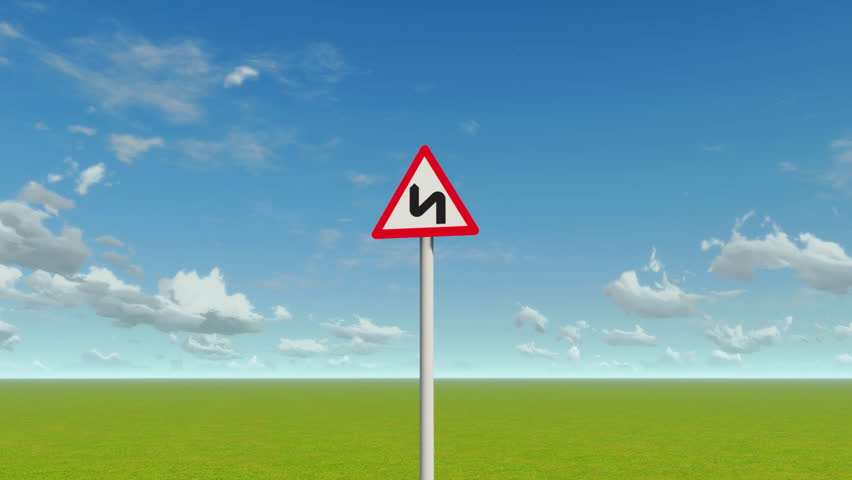 Winding road sign | Shutterstock HD Video #3692069