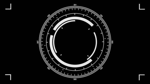 Animated graphics to simulate video or still camera, telescope, microscope, or any instrument with a cross hair view port.