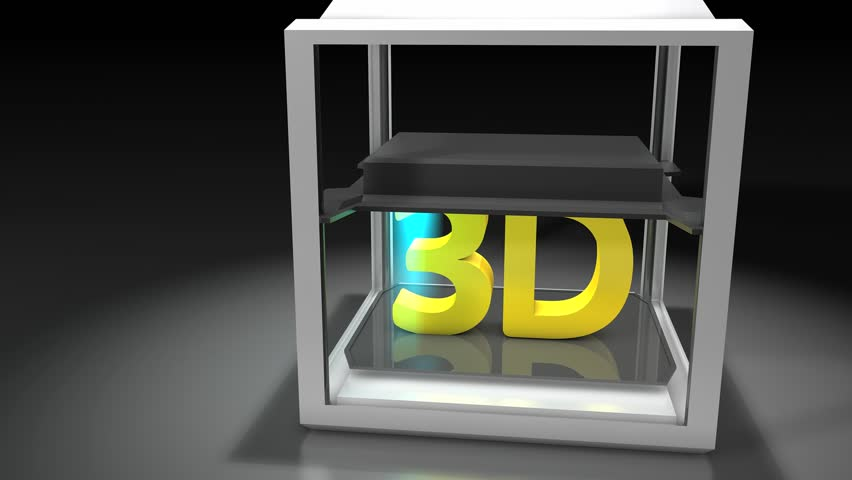 3d Printing. Matte included | Shutterstock HD Video #3702869