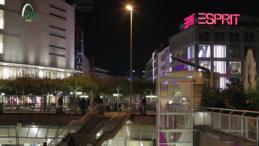 stock video of frankfurt september 30 shopping malls 3707159 shutterstock. Black Bedroom Furniture Sets. Home Design Ideas