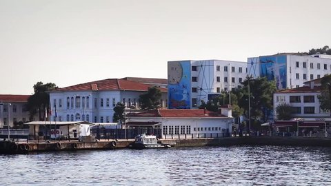 Heybeliada Naval Acedemy Building from the waterside, Istanbul, Turkey. Heybeliada