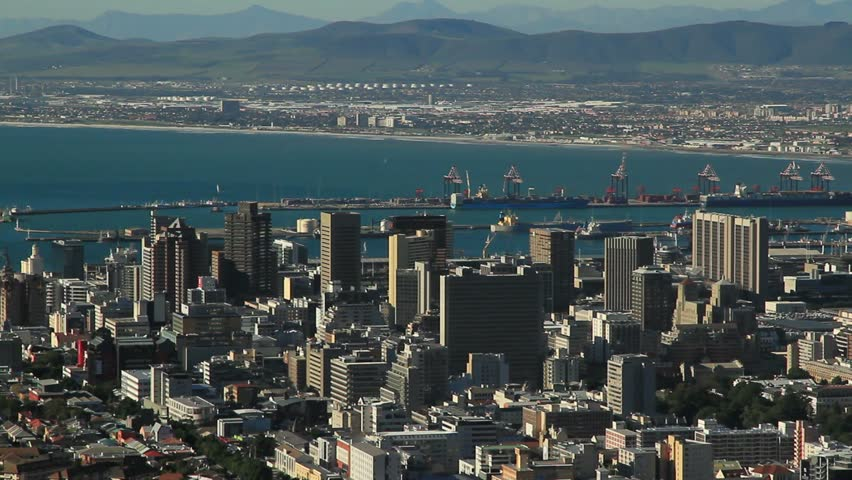 Capetown ,city,South Africa aerial view
