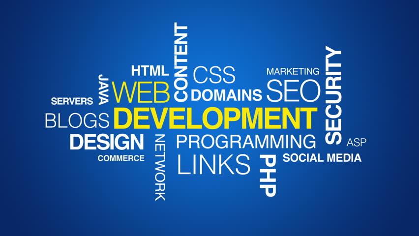 Web Development Text Animation Stock Footage Video (100% Royalty ...