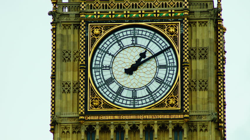 View of Big Ben time lapse