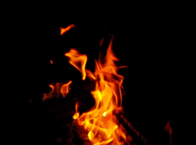 A Fireplace Like Flames Burning Stock Footage Video 1532626 ...