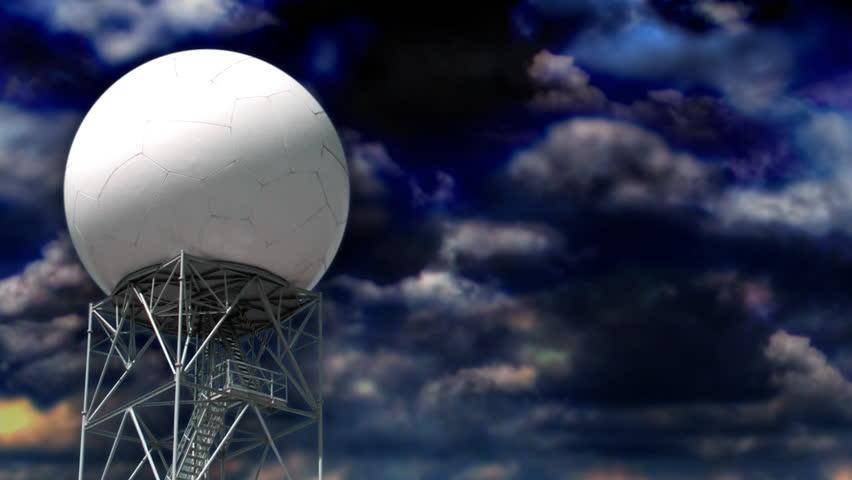 A doppler radar predicting a bad winter storm. | Shutterstock HD Video #381556