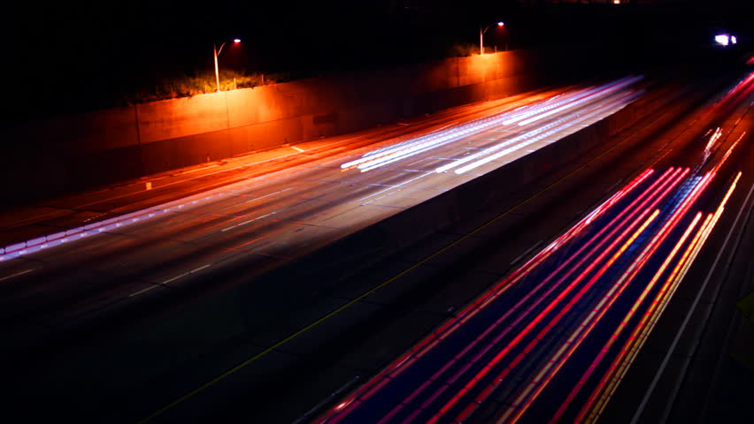 Streaks of light on the highway image - Free stock photo ...