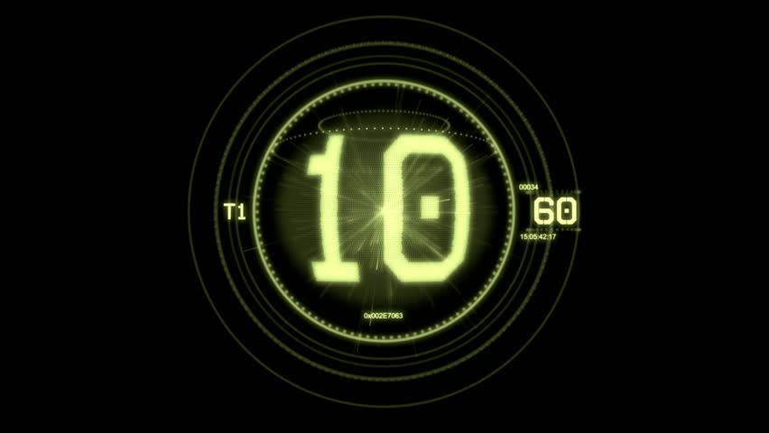 Hologram timer coundown green