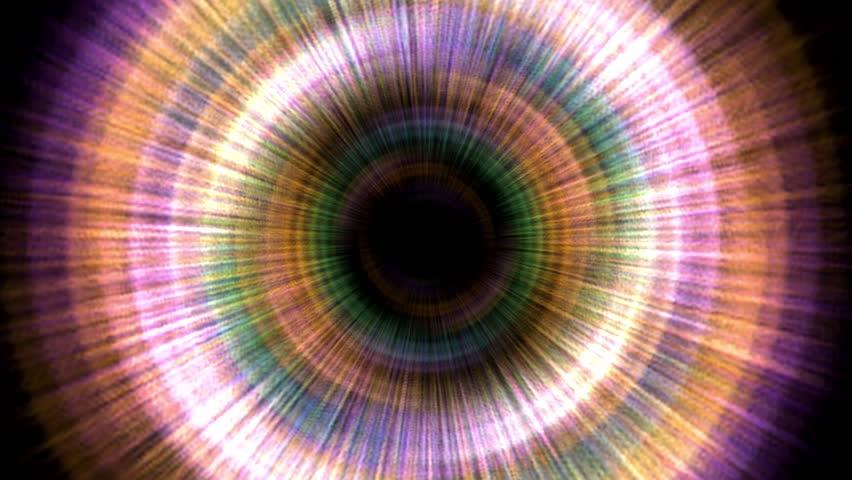 Hypnotic colorful swirling vortex