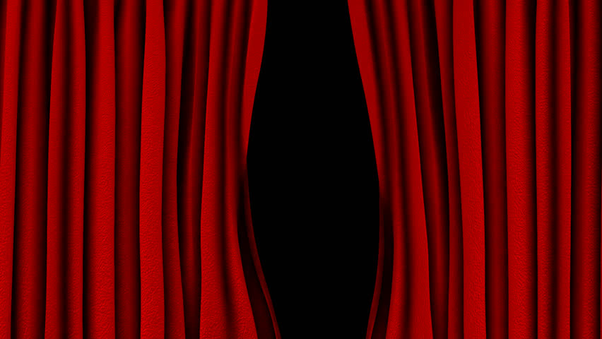 Red curtain opening (Alpha channel included) | Shutterstock HD Video #3840119