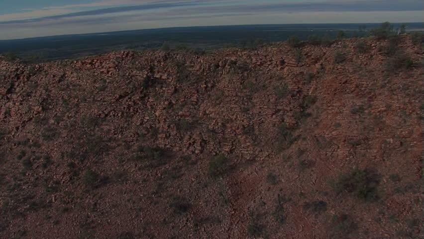Aerial panorama of the desert near Alice Springs - Australia
