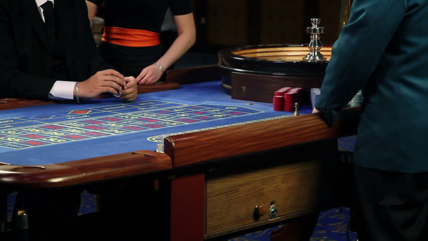 View from casino worker at casino's roulette   Shutterstock HD Video #3859580