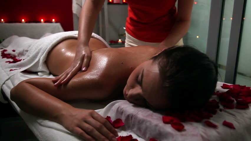 Erotic massage video clip