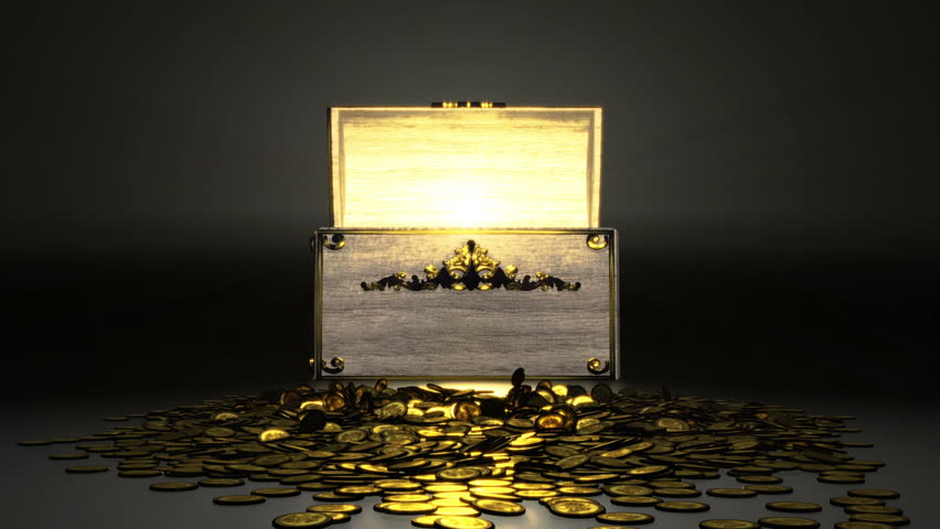 Stock Video Of Treasure Chest With Gold Coins 3860579