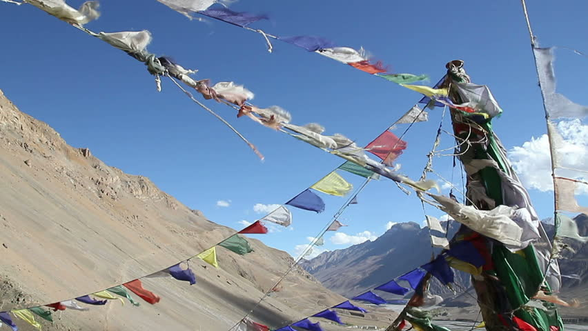 Tibetan flags against the sky 2