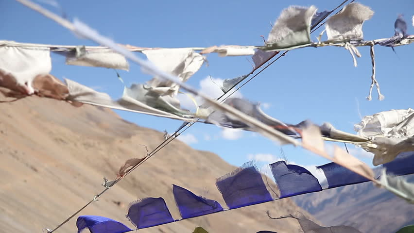 Tibetan flags against the sky 1