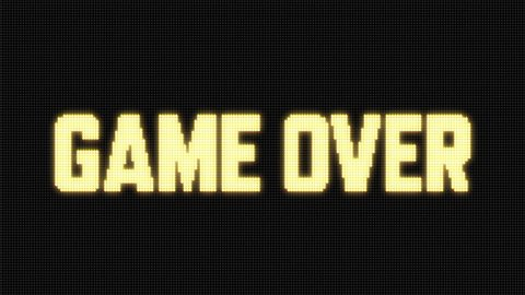 GAME OVER on Jumbotron LED screen