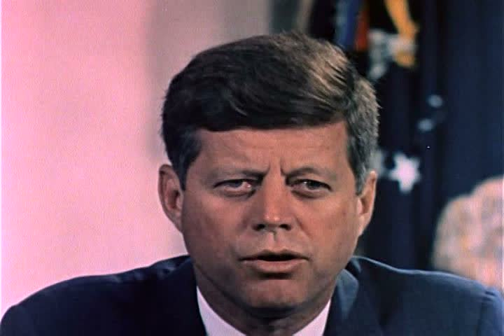 1960s - President Kennedy speaks about Algerian independence in 1963.