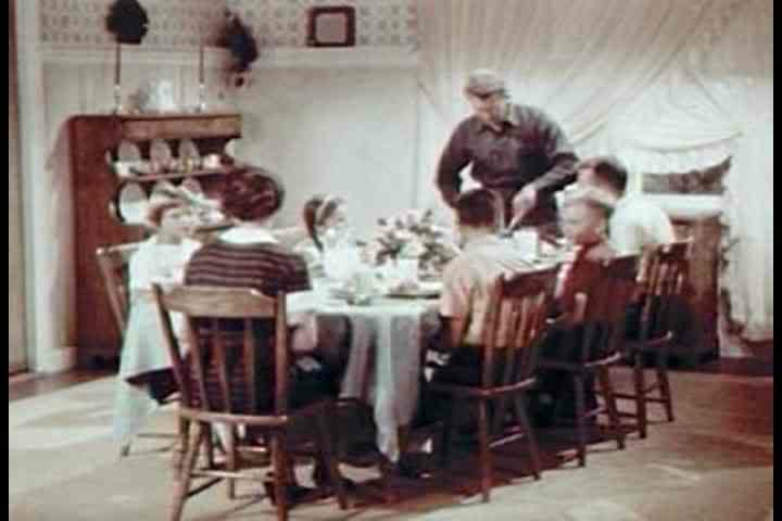 1960s - Dinner time on the farm in 1963.