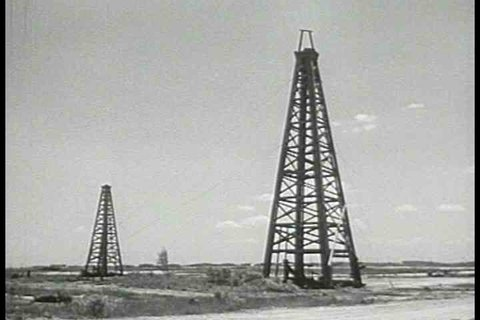 1950s - Oil and gas exploration in Texas in 1950.