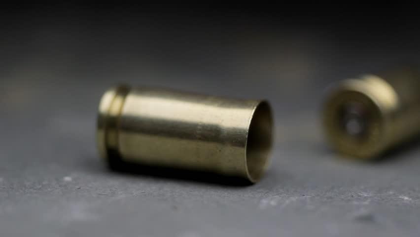 Gun crime spent bullet cases