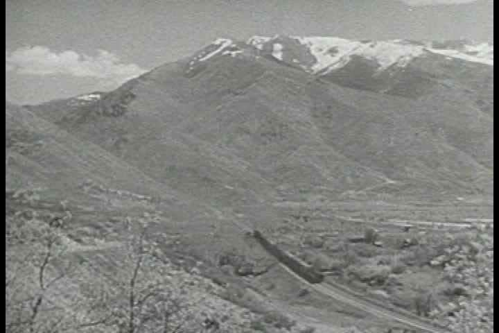 1940s - Good shots of steam trains through the countryside in 1943.