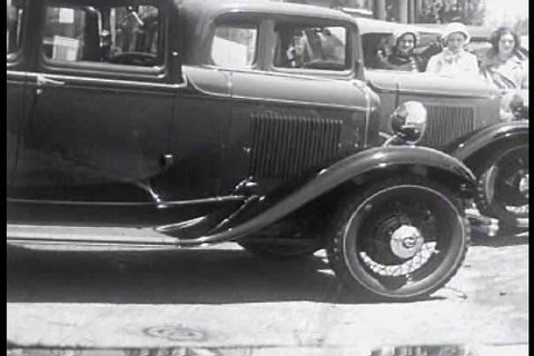 1930s - Very good black and white footage from 1932 of a Ford dealership in the Bay Area.