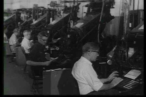 1960s - Buffalo New York newsroom and it's activities.