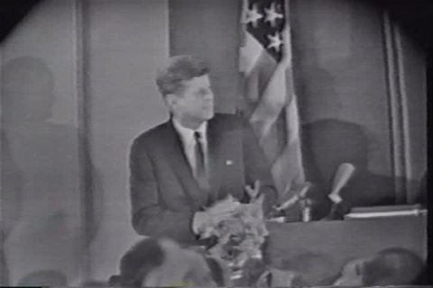 1960s - News footage of the events leading up to the Kennedy assassination in Dallas.