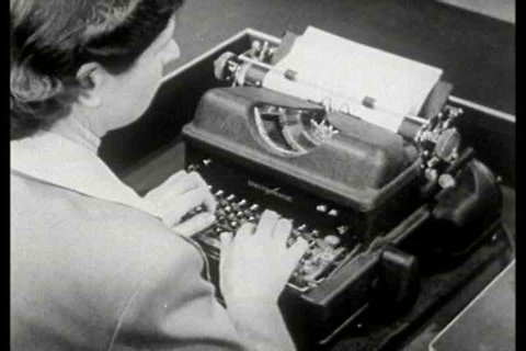1940s - The history of typewriter technology is shown along with current models of the 1940s.