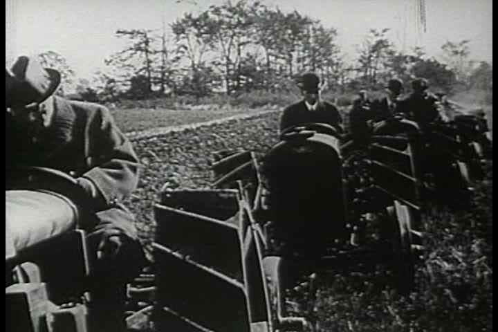 1910s - Ford produces tractors to help in WWI. The war is over and the Armistice day parades begin.