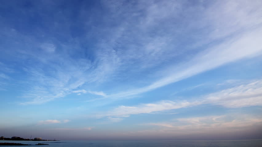 evening clouds and sea timelapse landscape