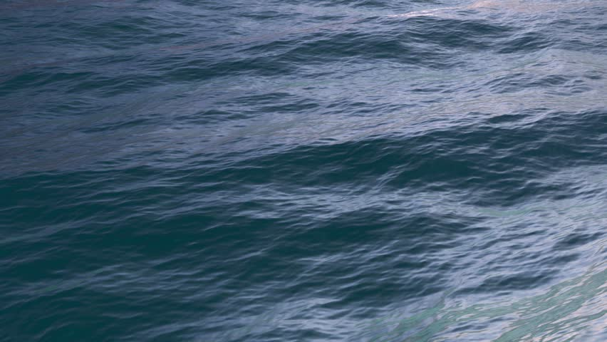 aerial view, cycled sea surface shot with static cam, beautiful waves, seamless loop, high definition full hd 1080p, Great background for movie credits or intro